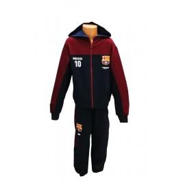 Barcelona FC Детски  анцуг с качулка Меси нов