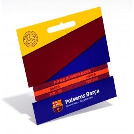 Barcelona FC Силиконови гривни 3бр