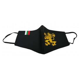Предпазна маска за лице Български  черна голямо лъвче