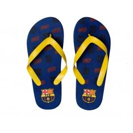 Barcelona FC Детски джапанки  с жълто