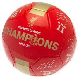 Liverpool FC Топка  Шампиони с подписи-червена