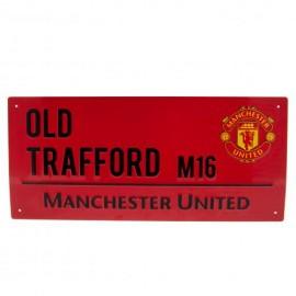 Manchester United Метална табелка -червена
