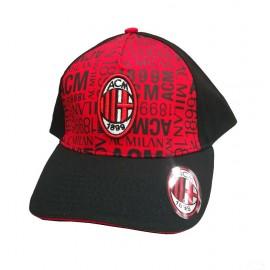 Milan FC Cap red/black